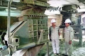Nhà máy xi măng Thăng Long cải tiến hệ thống hút clinker qua van quay